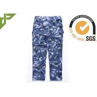 Ocean Military Style Cargo Pants , Polyester Cotton Combat Trousers With Knee Pads