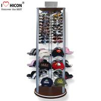 China Fashion Store Rotating Outdoor Sports Product Display Stands / Racks Wood Base wholesale
