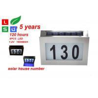 China Wall Mounted Solar Powered Signs 5050 SMD LED Solar House Number Light wholesale