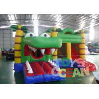 China Crocodile Inflatable Bounce House With Slide / Huge Commercial Jumping Castles wholesale