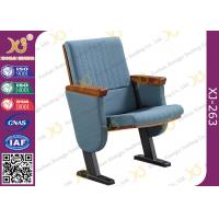 China Molded Foam Low Back Auditorium Seat Chairs With MDF Writing Pad Spring Return wholesale