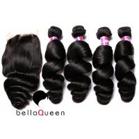 China 8A Loose Wave Virgin Indian Hair Human Hair Extension 8-30 Length on sale