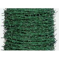 China PVC Coated Security Barbed Wire Fencing With Low Carbon Steel Materials wholesale