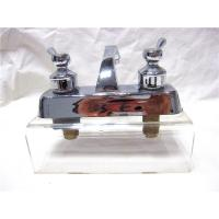 Quality Stainless Steel 2 Handle Kitchen Sink Faucet With Pull Out Sprayer / One Faucet for sale