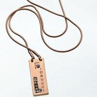 China characteristic fashion oblong pendant necklace in rose gold color wholesale