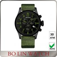 China 6 Hands Nylon Strap Chronograph Stainless Steel Watches For Boys OEM on sale