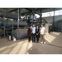 China Continuous waste rubber tyre plastic machine to fuel oil on sale