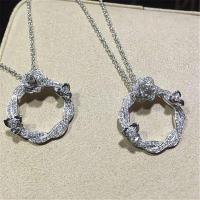 China Piaget  full diamonds of rose vine  necklace 18kt  gold  with white gold or yellow gold 110 diamonds wholesale