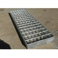 China Non Slip Steel Stair Treads Grating / Galvanized Stair Treads Q235 Material on sale