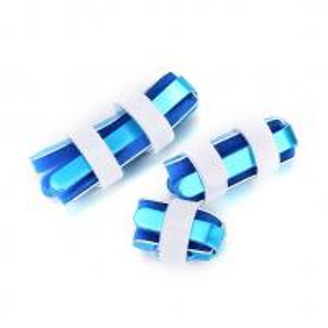 China Blue color finger support brace S M L size aluminum finger splint stable support wholesale