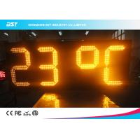 China Yellow Outdoor Led Clock Display Timer Digital Clock With Temperature Display wholesale