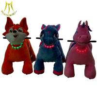 China Hansel stuffed animals scooters sale and rideable horse toys from china  with motorized animals for mall wholesale