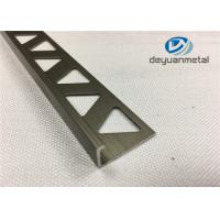 China 6063-T5 Polishing Bronze Aluminium Extrusion Profile Round Edge Aluminium Trim wholesale