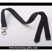 Quality Custom purple color free sample logo 2*90mm polyester lanyard with clip for sale
