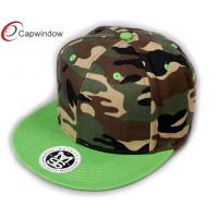 China Mens Heavy Brushed Cotton Military baseball hats With Velcro Closure wholesale