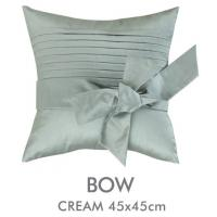 Decorative Living Room Pillow Covers : Square Blue Handmade Bow Decorative Pillow Cover 18 Inch For Living Room Office of item 99090124
