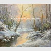 China Framed Custom Winter Landscape Painting With Snow  Neo - Classic Style wholesale