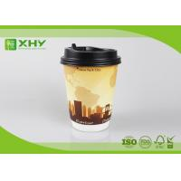 China 12oz 400ml FDA Certificated Eco-friendly Double Wall Paper Cups with Lids wholesale