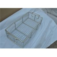 China Rugged Stainless Steel Wire Mesh Basket With Moved Handle For Fruit wholesale