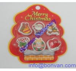 China Seasonal Eraser,blister card packed gift eraser,rubber eraser wholesale