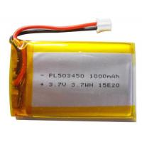 China Custom Li Polymer Rechargeable Battery / Li Poly Battery Pack 1000mAh For Fishing Equipment wholesale