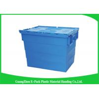 China Durable Plastic Attached Lid Containers / Heavy Duty Plastic Storage Boxes wholesale