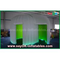 China Green Background Inflatable Photo Booth Enclosure Double - Deck Photo Booth Tent wholesale