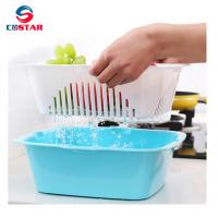 China Household water-draining plastic utensils basket vegetable and fruit drainer basket whole foods fruit baskets wholesale