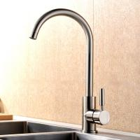 China Durable Single Handle Kitchen Faucet Brushed Plated Finishing Simple Style on sale