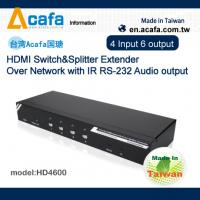 Buy cheap 4in 6 out HDMI 1080P Extender source signal Splitter or Switch from wholesalers