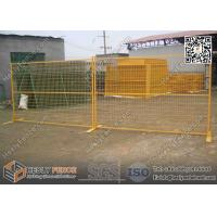 "China 6x9.5ft Temporary  Fencing panels with Yellow Powder Coated | 1"" square pipe frame wholesale"