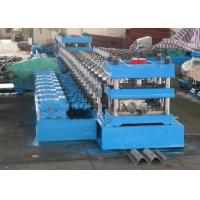 China 2 Waves Highway Guardrail Roll Forming Machine Fually Automatic Control By Panasonic PLC wholesale