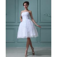 China High Breathable Bridesmaids Wedding Dresses, Strapless Lace A-line Dress For Wedding Party wholesale