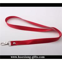 China custom 25*900mm no printed polyester neck lanyards with metal buckle. wholesale