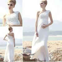 Buy cheap tulle european beach dresses, charming beach dresses with one shoulder from wholesalers