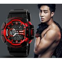 China New Fashion Men Water Resist 50M Chrono Sport Watch Multifunction Dual Time Alarm PU Strap Watch 1117 wholesale