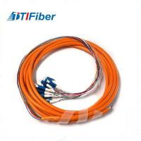 China FTTH SC-APC Multi Mode Fiber Optic Pigtail OM1 OM2 3M With Orange Jacket wholesale