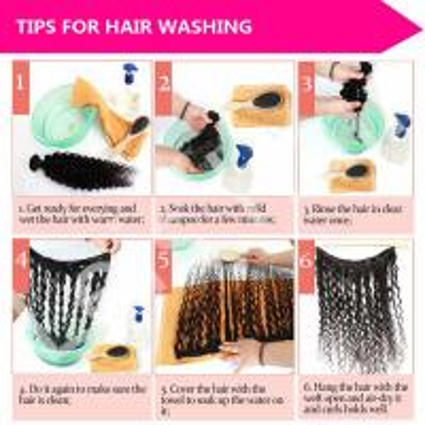 leis hair-human hair-washing