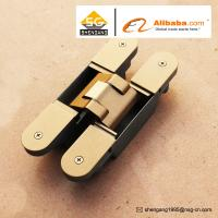 China Zinc Alloy 3D Adjustable Concealed Hinge / Invisible hinge For Wooden Doors on sale