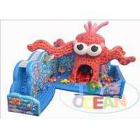 China Commercial Rental Inflatable Bouncer Combo Sea Ocean Octopus Monster Playground wholesale