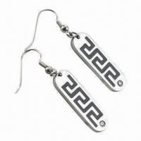 China Drop Earrings, Made of Stainless Steel/Titanium, Wholesale Customized Logos Accepted wholesale