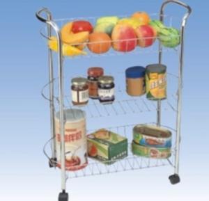 China Custom 3 Tier Metal Wire Kitchen Storage Racks, Kitchen Trolley Cart JP-983C wholesale