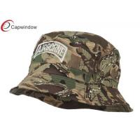 China Camo Airborne Embroidered Cool Bucket Hats with Pure Washed Cotton wholesale
