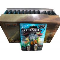 China 3D Material Rhino7 Double Herbal Men Sex Pills For Long Lasting Erections wholesale