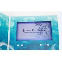China custom Multi - page handmade lcd video greeting card for fair display wholesale
