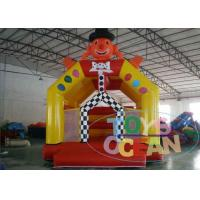 China Funny Walking Clown Lovely Face Inflatable Bounce House For Kids wholesale