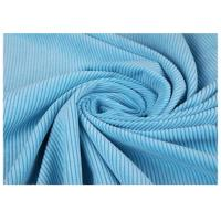 China Blue Color Fine Corduroy Fabric For Male Trousers , Bag Corduroy Textile wholesale