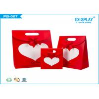 Wedding WelcomePaper Gift Bags , Decorative Paper Bags With Ribbon Bowknot