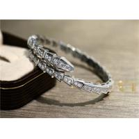 China luxury jewelry brands  Serpenti One Coil 2.86ct 18kt White Gold Bracelet BR857492 wholesale