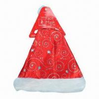 Buy cheap Red Santa Hat, Ideal for Christmas Decorations Purposes, Made of 100% Polyester from wholesalers